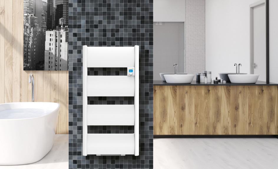 seche serviette sol ne chauffage de salle de bains applimo. Black Bedroom Furniture Sets. Home Design Ideas